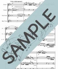 SP-FQG011-01 G線上のアリア/J.S.バッハ:フルート四重奏(2Flutes,Alto-Flute,Bass-Flute)