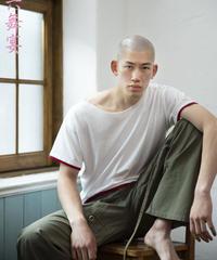 Clavicle neck T-shirt - No-print / 鎖骨ネック Tシャツ - 無地 / 20003