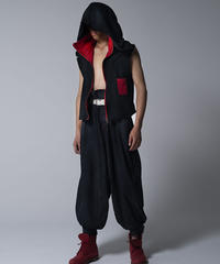 Luxury material / Ninja hoodie sleeveless / 忍者パーカーノースリーヴ / 20008