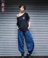 Clavicle neck T-shirt - Kanji design / 鎖骨ネック Tシャツ - 漢字デザイン / 20004