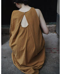 2color : Back Open Tack Dress 90355 送料無料