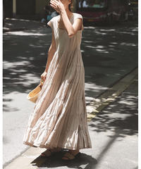 【数量限定再販】Antique  Retro Dot Tiered Long Dress 90353 送料無料