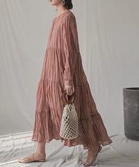 ■再販■ 2color : Chiffon Crepe Dress 90170 送料無料