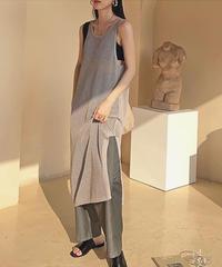 【即納】2color : Side Slit Mesh Dress 177 送料無料