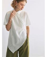 Asymmetry  Punching lace Shirts 90360 送料無料