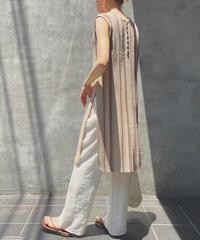 再入荷【即納】3color:2way Random Stripe Knit Long Tops    90005 送料無料