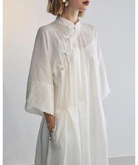 Wrinkle China Shirts Onepieace    90357 送料無料