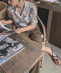 Antique Flower Sheer Shirts  90209 送料無料