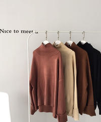 4color:Long sleeve High neck Loose Knit 送料無料