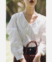 Big Lace collar Blouse 90281 送料無料