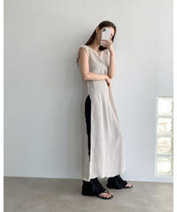 2color : French Sleeve Crepe Long Tops    90364 送料無料