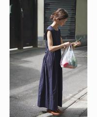 ■大人気*再販■~残り僅か~2color : Embroidery Dot Long Dress 90256 送料無料