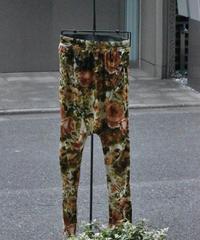"Subtile ""Flower printed velour sarouel bottom"" 1点物"