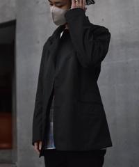 "Jobi fret roop 2021-22 f/w ""Black × Green Silk chambray amish tailored jacket"" 1点物"
