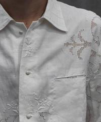"""Hanke's """"needleworks linen shirt white"""""""