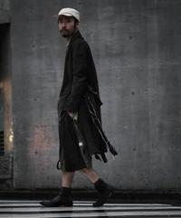 """WILDFRÄULEIN71 """"leather denim print gown"""""""