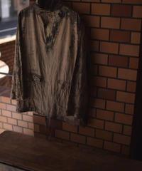 "Subtile ""Lizard silk×linen shirt smock"" 1点物"