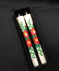 絵ろうそく20匁(もんめ) 椿と小手毬