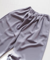 """Graphpaper """"Satin Wide Gather Pants """" Gray"""