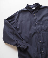 """Graphpaper """"Broad Oversized L/S Shirt""""  Navy unisex"""