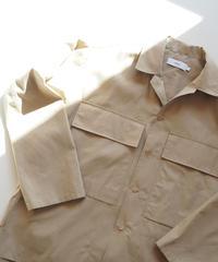 """Graphpaper """"Stevensons Military Shirt"""" Beige unisex"""