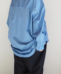 "Graphpaper ""Broad Oversized Band Collar Shirt""  Blue unisex"