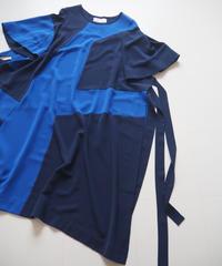 """HENRIK VIBSKOV """"FIELD DRESS"""" Blue cuts"""