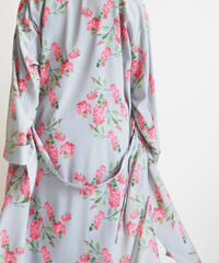 """Graphpaper """"Flower Printed Shirt Dress / The floral print designed by *ENAMEL"""" Gray"""