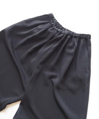"Graphpaper ""Satin Wide Gather Pants "" Black"