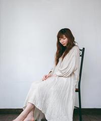 gauze linen dress【gather sleeve ver. 】