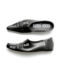 KICKIN' YOUTH / POINTED MOHICAN SLIPON  LEATHER SHOES