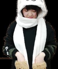 猫渕さんフードマフラー 51856016