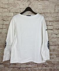 【USED】SAINT JAMES  セントジェームス  ウェッソン エルボーパッチ  バスクシャツ