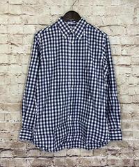 【USED 中古品】INDIVIDUALIZED SHIRTS  インディビジュアライズド シャツ  ギンガムチェック  ボタンダウンシャツ  スタンダードフィット