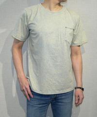4004original brand ポケットデザイン  ストーンウォッシュ加工 UネックTシャツ