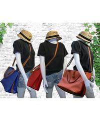 3デザイン 3カラー フェイクレザー トートバッグ ハンドバッグ ショルダーバッグ