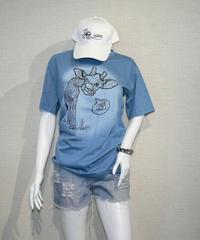 COTTON 100% 3Dプリント KIRIN(キリンさん) UネックTシャツ