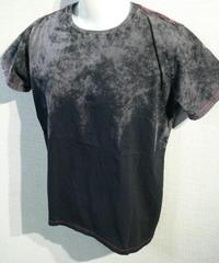再入荷ほぼ無し 2段染め カラーステッチ縫製 Uネックストーンウォッシュ Tシャツ