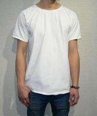 4004original brand カットオフ 貼り合わせ縫製 ストーンウォッシュ加工 UネックTシャツ