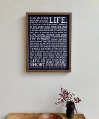 "HOLSTEE  限定500枚 ""Navy Manifesto"" Letterpress Poster 18 x 24 inch"