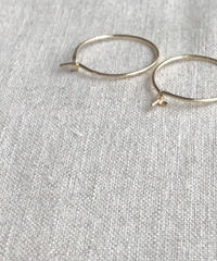 cinq / little  round  earring  /  14k gold  filled
