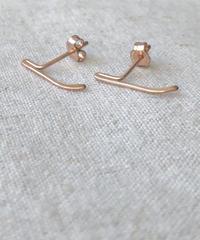 cinq / mini blade earring /  14k  rose gold filled