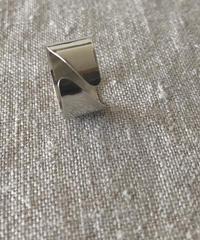 cinq / diagnal ring / silver
