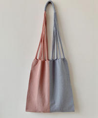 pips / cotton handwoven hammock bag / baby pink x cement
