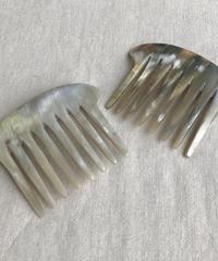 kostkamm / horn decorative comb  / 12x8 cm  / 9434