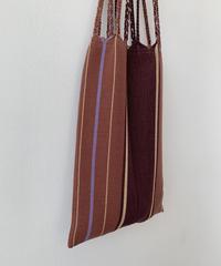 pips / cotton hand woven mini  hammock bag  /  lt brown