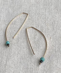 Cinq / eclipse  turquoise earring /gold filled  with turquoise