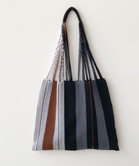 pips / cotton handwoven hammock bag  / back  asymmetry