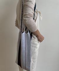 pips /cotton handwoven mini  hammock bag  / 2 tone color