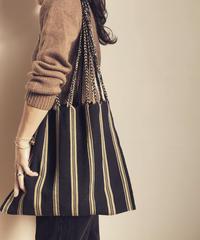 pips / cotton handwoven hammock bag / black x beige